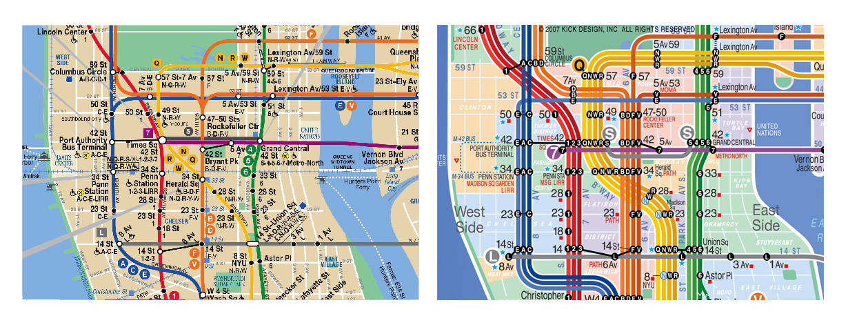 Subway Map New York Manhatten.Mapping Subways Spacing Toronto