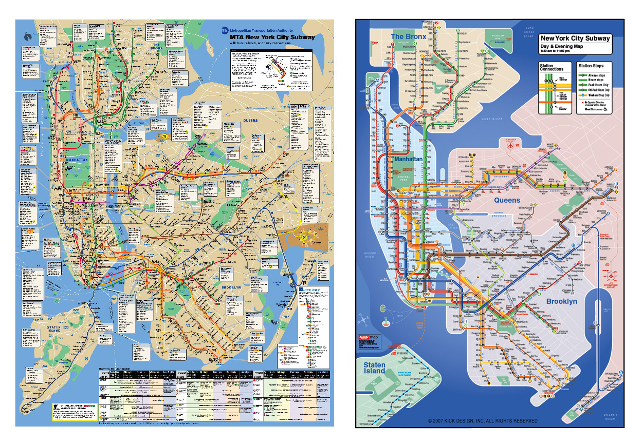 Nyc Subway And Street Map.About The Kick Map